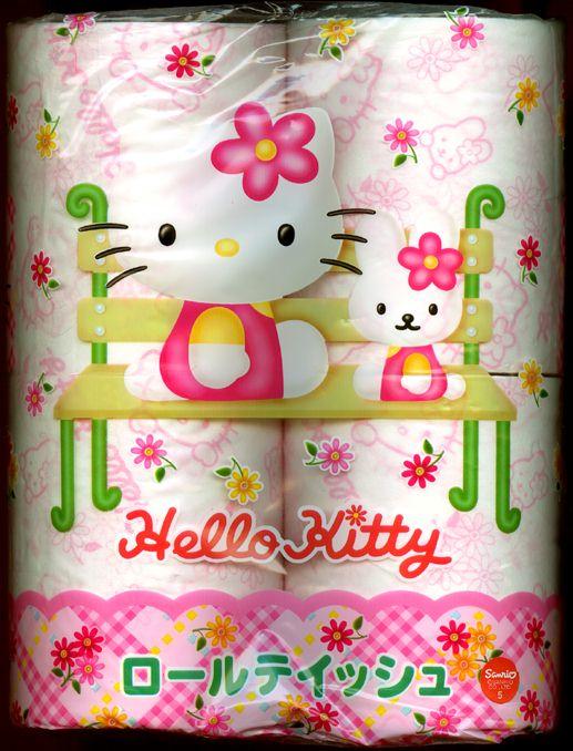 Hello kitty toilet paper tumblr for Commode kitty
